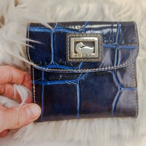 Authentic blue Dooney & Bourke wallet